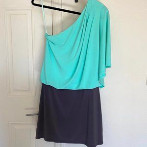 Jessica Simpson One Bat Sleeve Mint/Grey Mini Dres